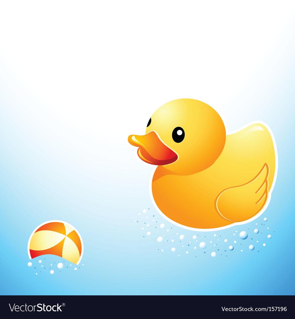 Bathroom duck vector image