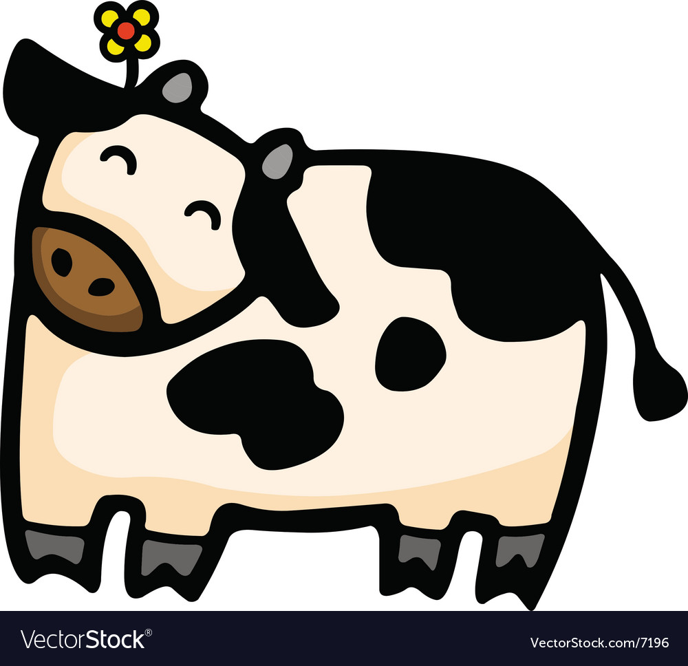 cow cartoon royalty free vector image vectorstock
