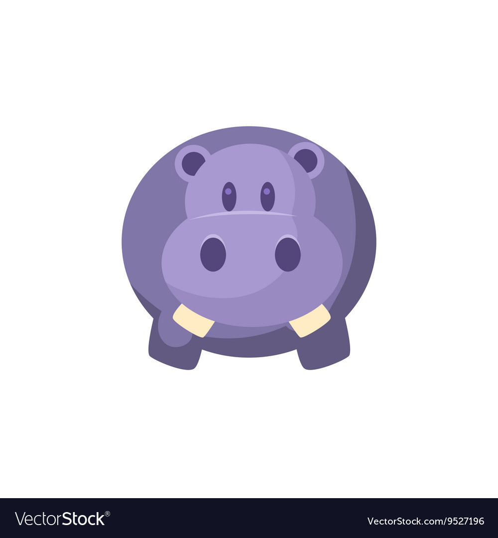 Toy Blue Hippo vector image