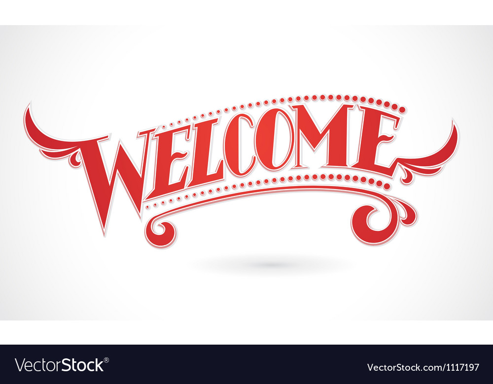 Welcome Lettering design element Vector Image