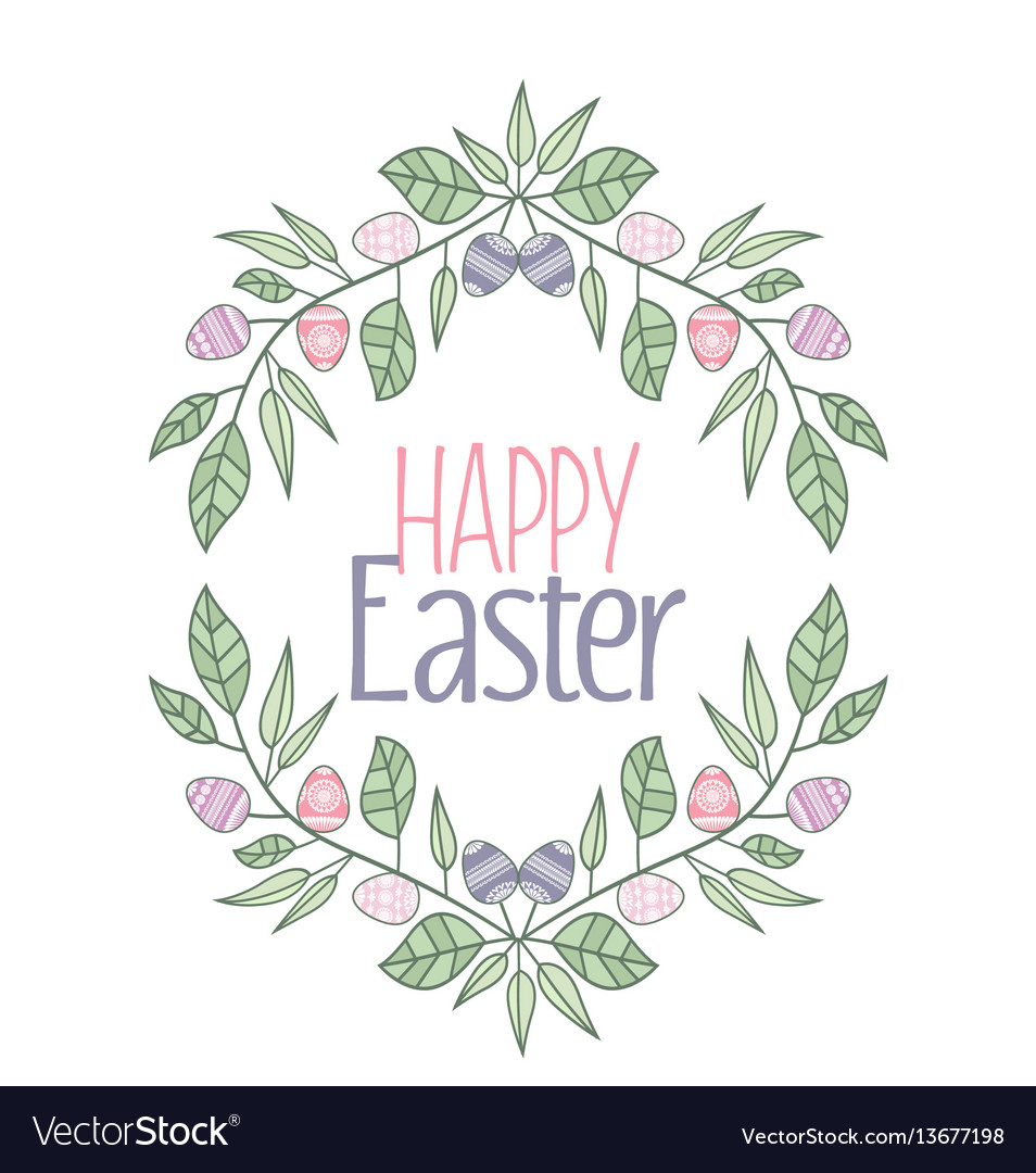 easter frame royalty free vector image vectorstock