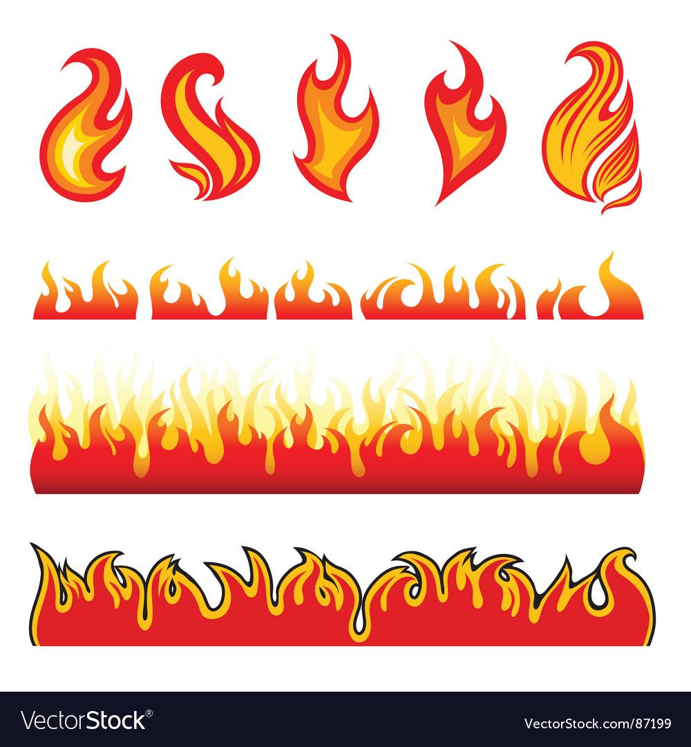 Fire design elements vector image