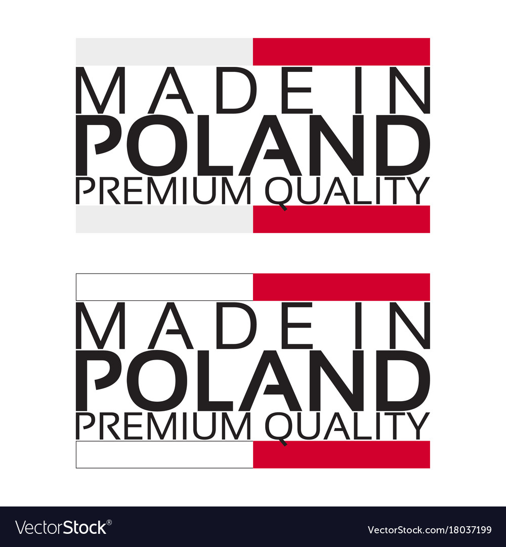 Made in poland icon premium quality sticker vector image