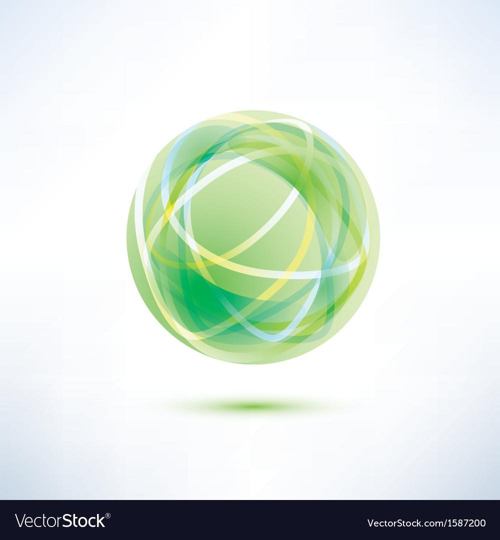 Green glass ball vector image