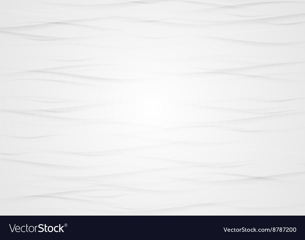 Abstract wavy light grey texture background vector image