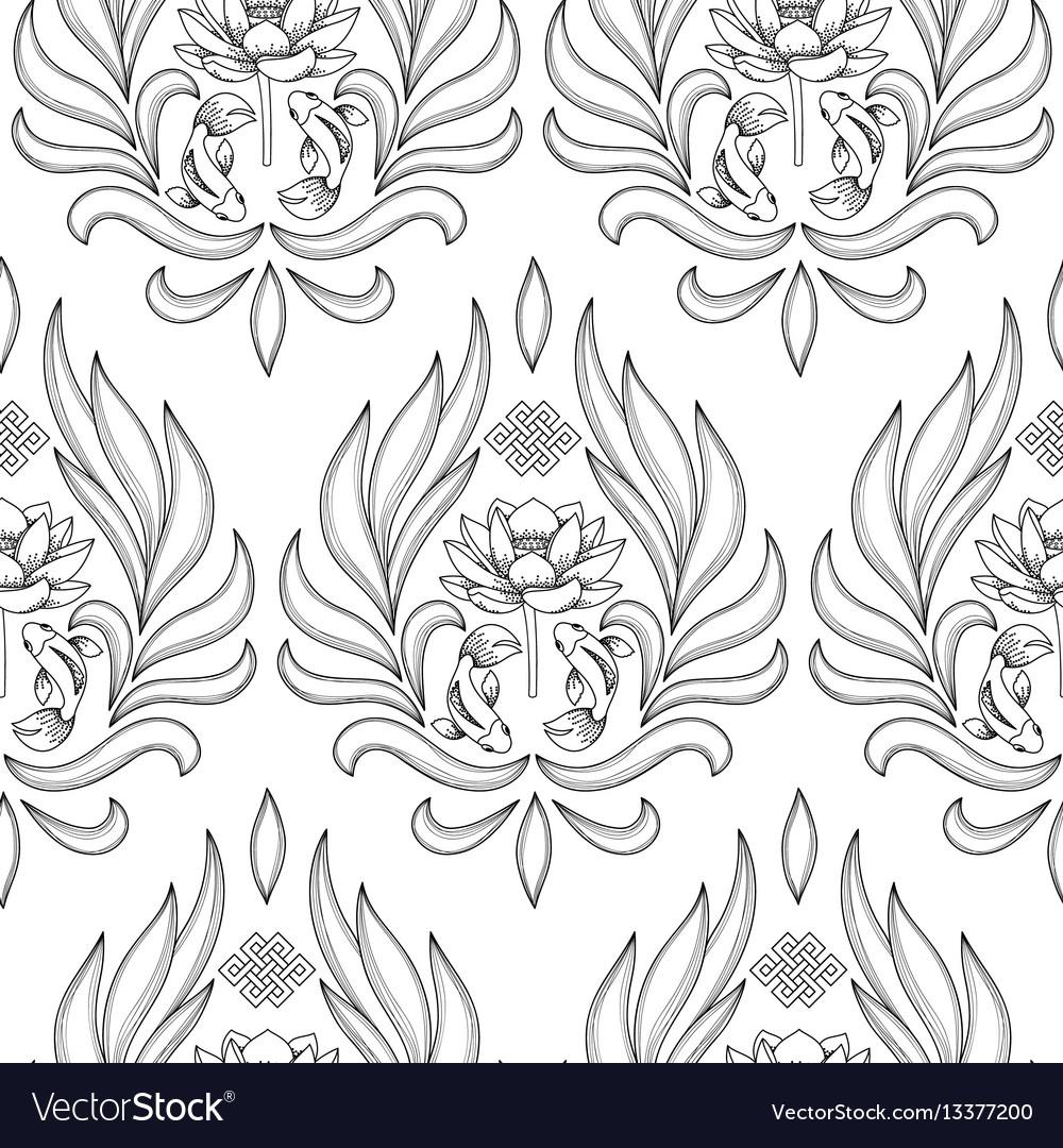 Buddhism symbols seamless pattern royalty free vector image buddhism symbols seamless pattern vector image biocorpaavc