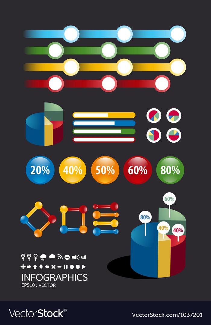 Info graphic icon Vector Image