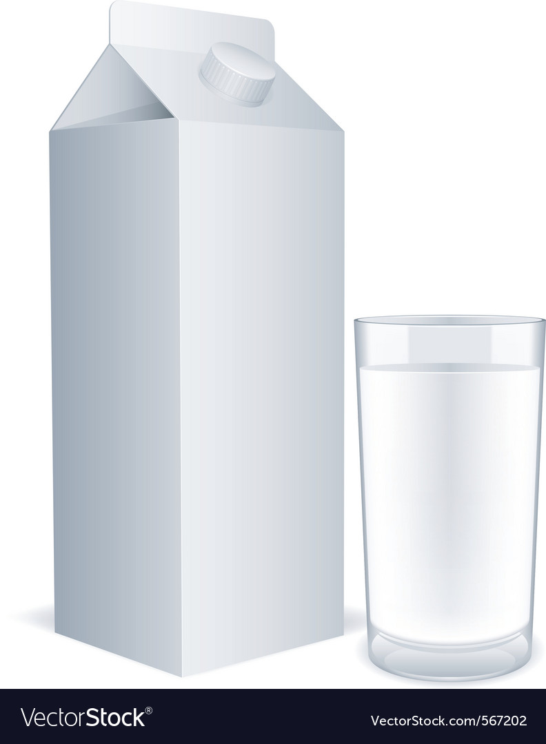 Blank milk carton Vector Image