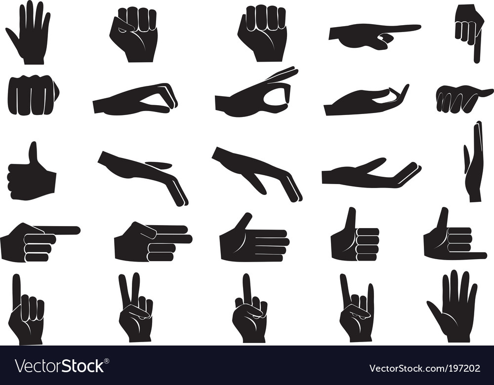 Hand set vector image