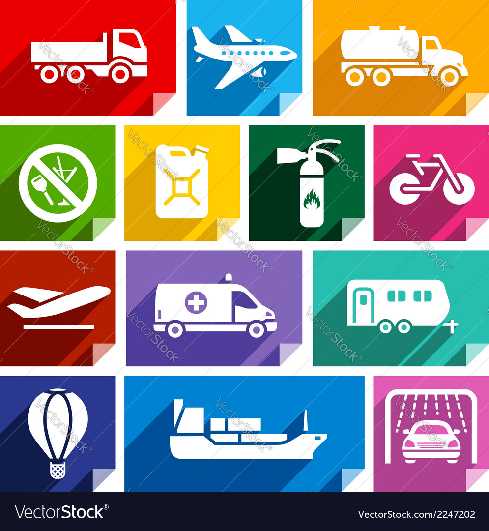 Transport flat icon bright color-02 vector image
