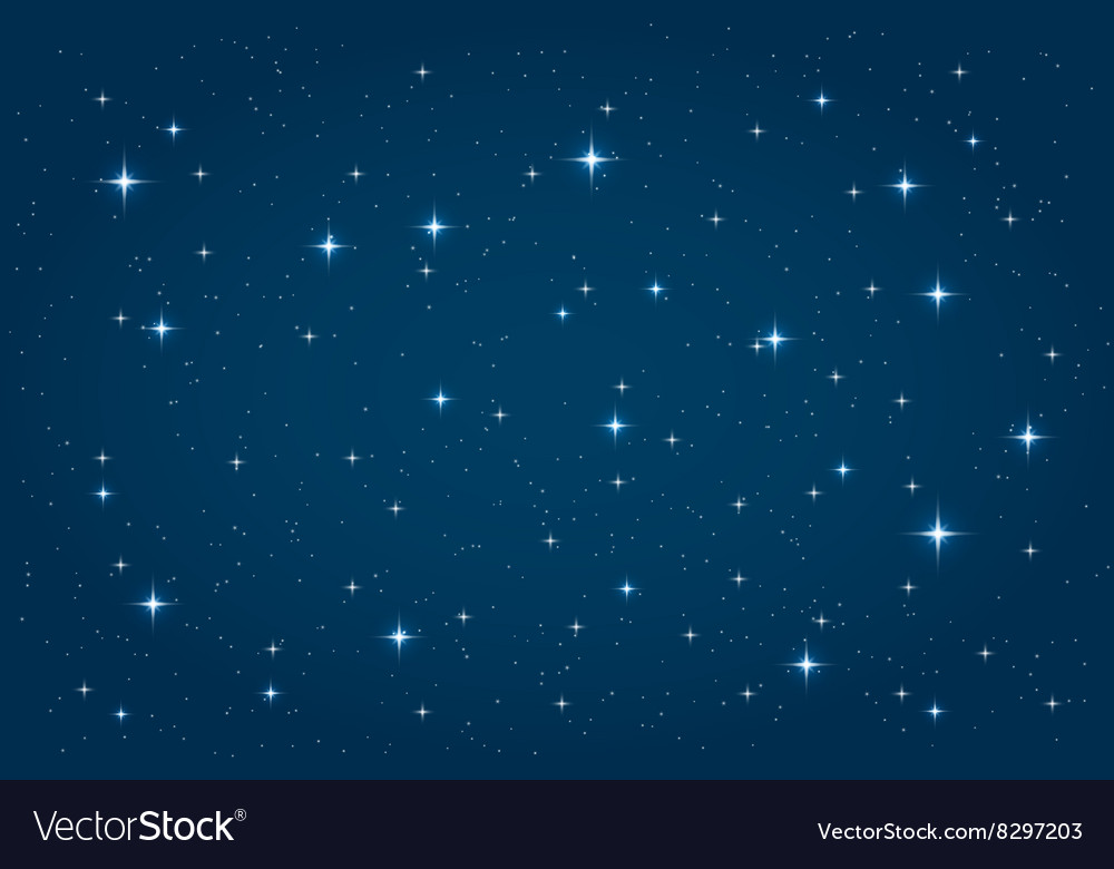 Blue night starry background vector image