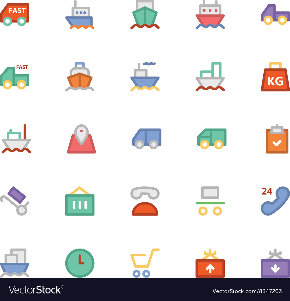 Logistics delivery Colored Icons 1 vector image