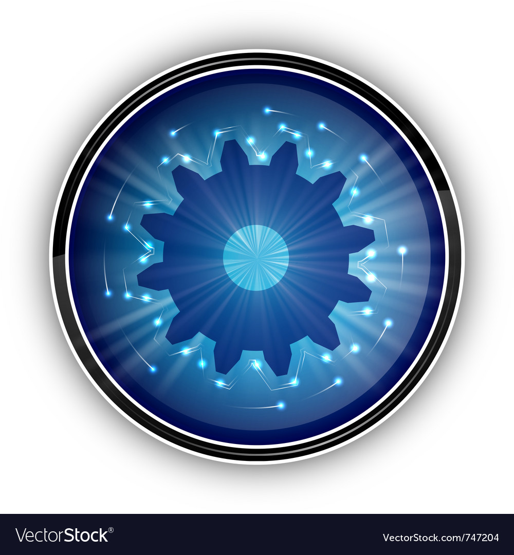 Tech blue symbol on the white vector image