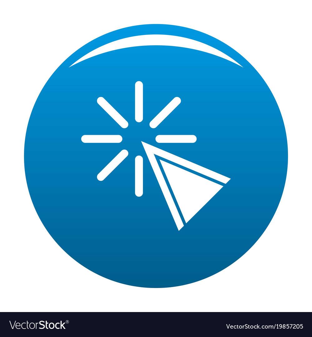 Cursor click icon blue vector image