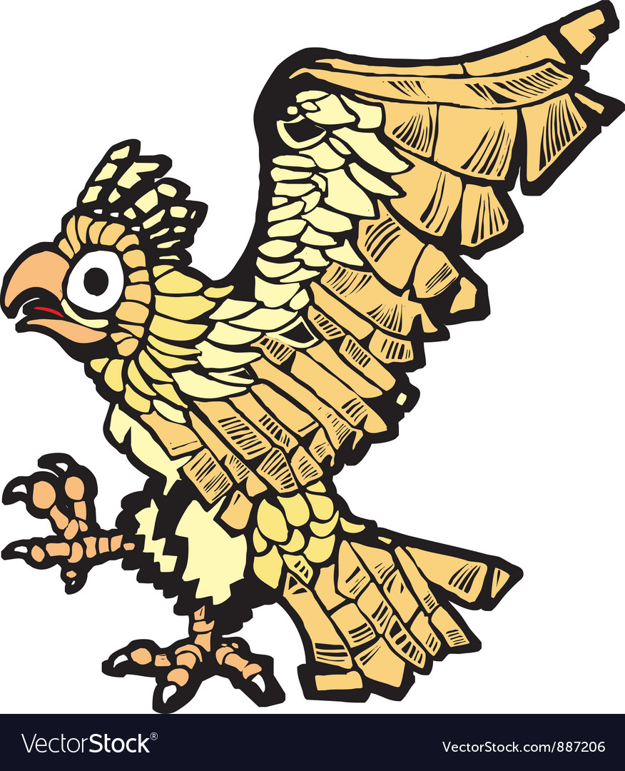 Aztec Eagle Vector Image