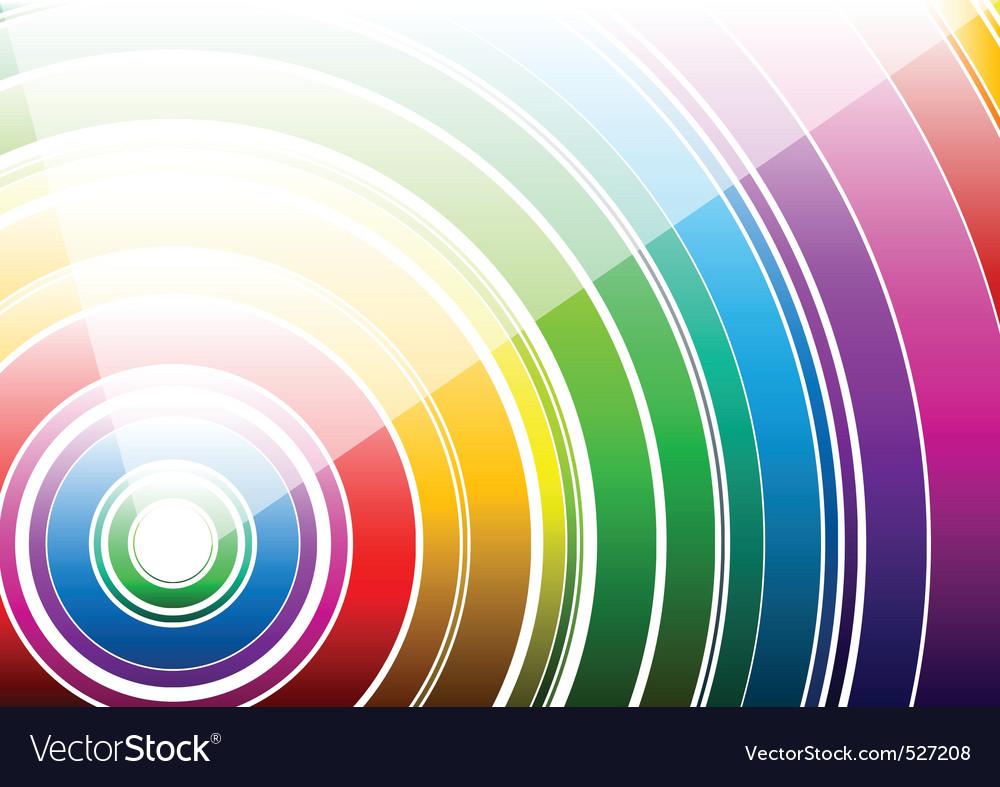 White rainbow Vector Image