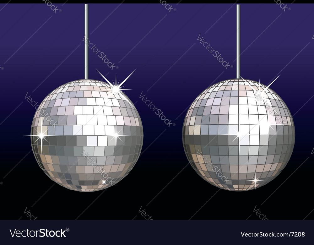 Disco ball set vector image