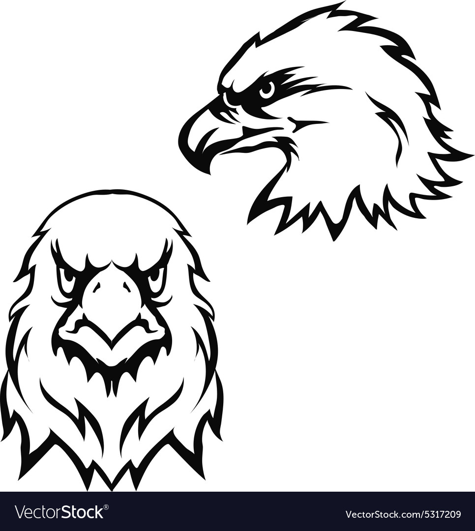 Eagles head logo emblem template set mascot symbol eagles head logo emblem template set mascot symbol vector image biocorpaavc Gallery