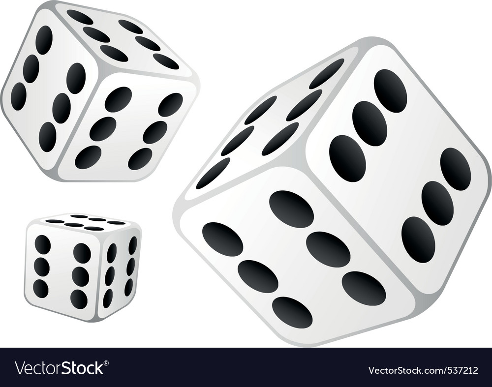 Dice with six dots vector image
