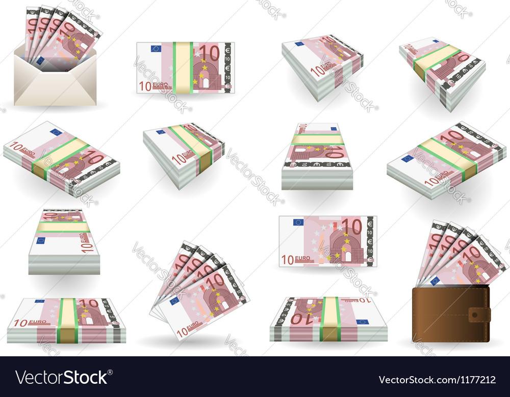 Euro 10 Convertito vector image