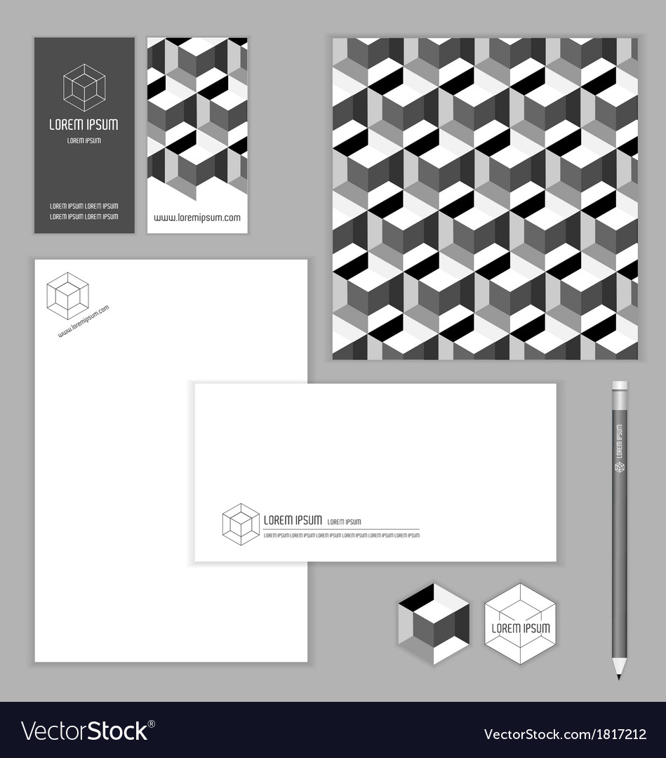 IDENTITY BRANDING SET FOR BUSINESS vector image