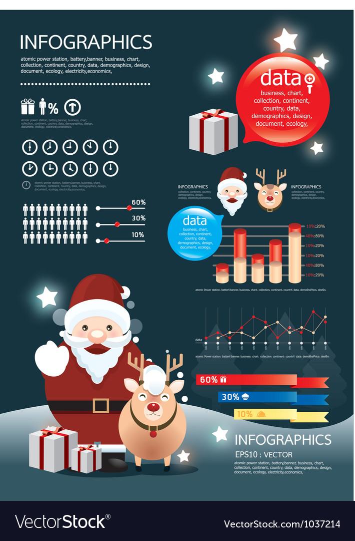 Holiday christmas infographic vector image