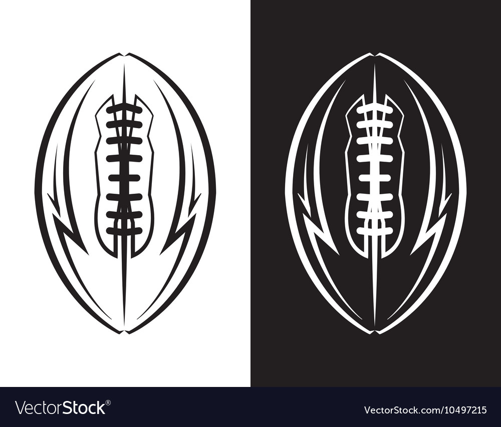 American Football Ball Emblem Icon vector image