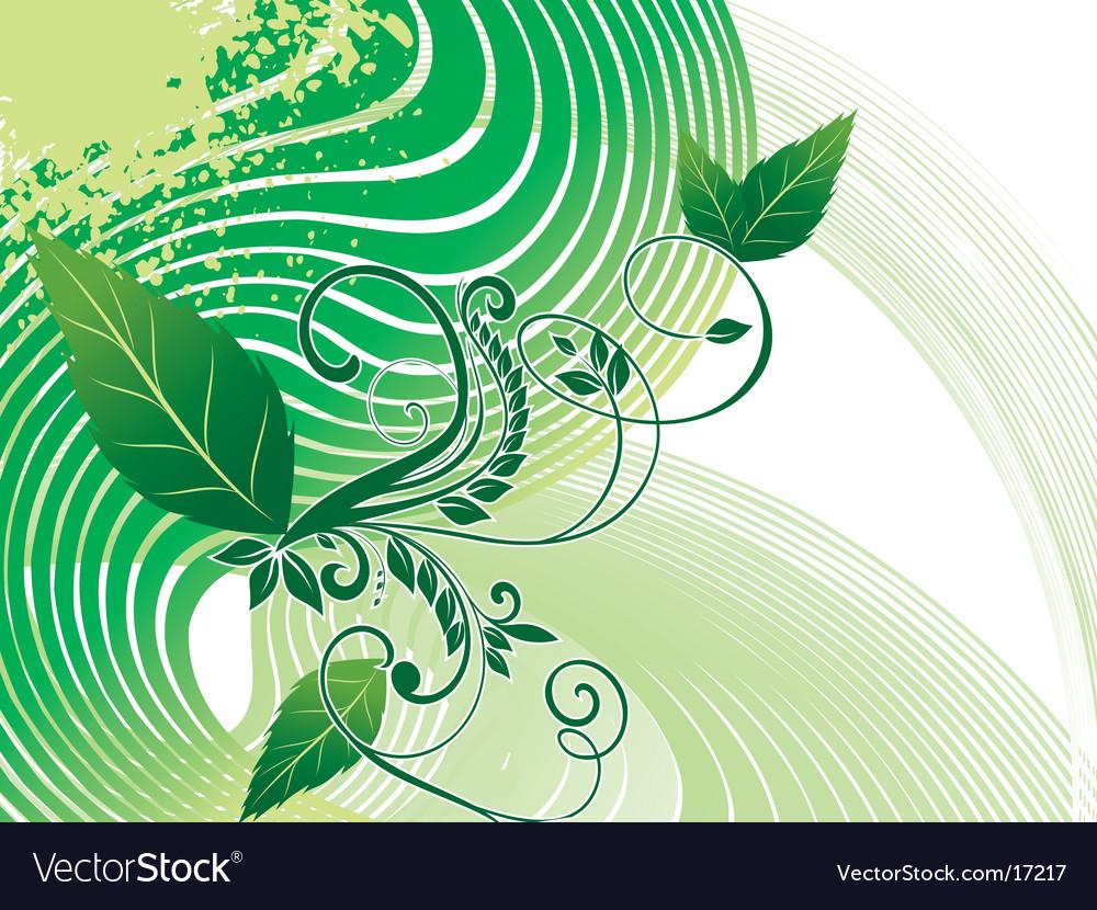 Background foliage vector image