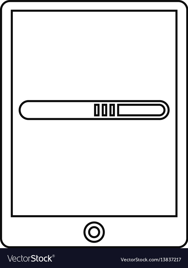 Smartphone technology function device line vector image