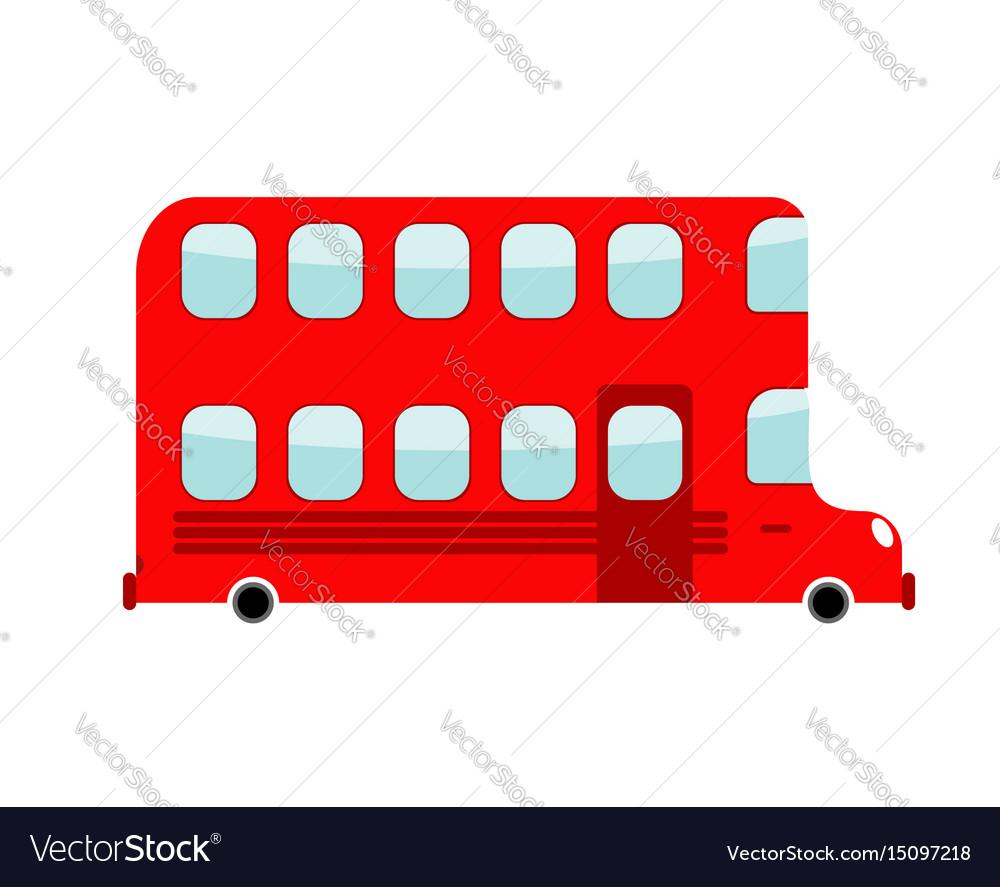 Double-decker cartoon style london bus isolated vector image
