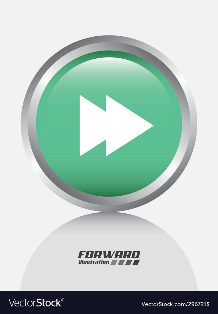 Forward design vector image