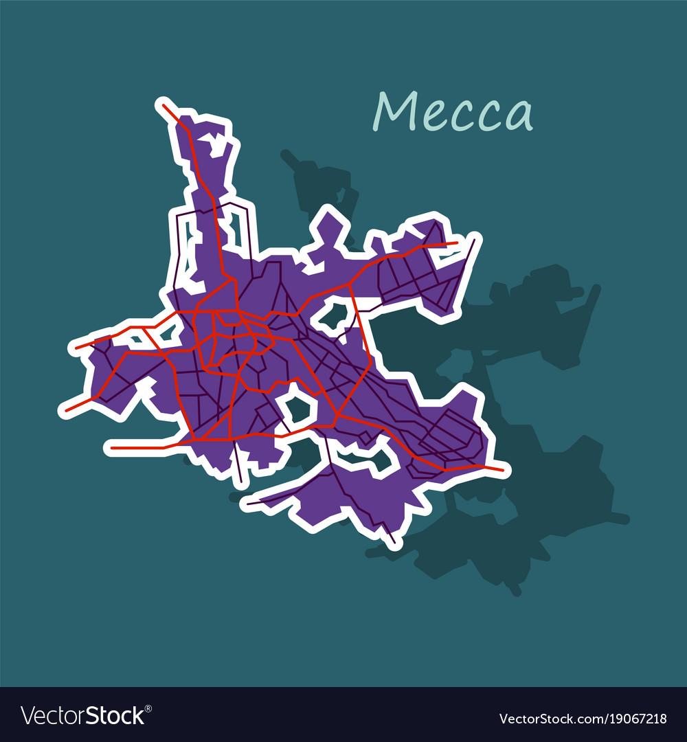 Mecca map saudi arabia sticker royalty free vector image mecca map saudi arabia sticker vector image gumiabroncs Images