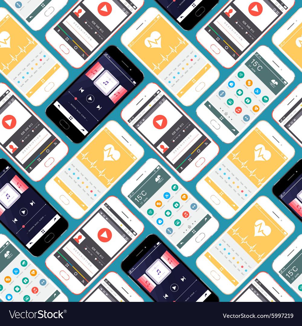 Smartphone Seamless Pattern vector image
