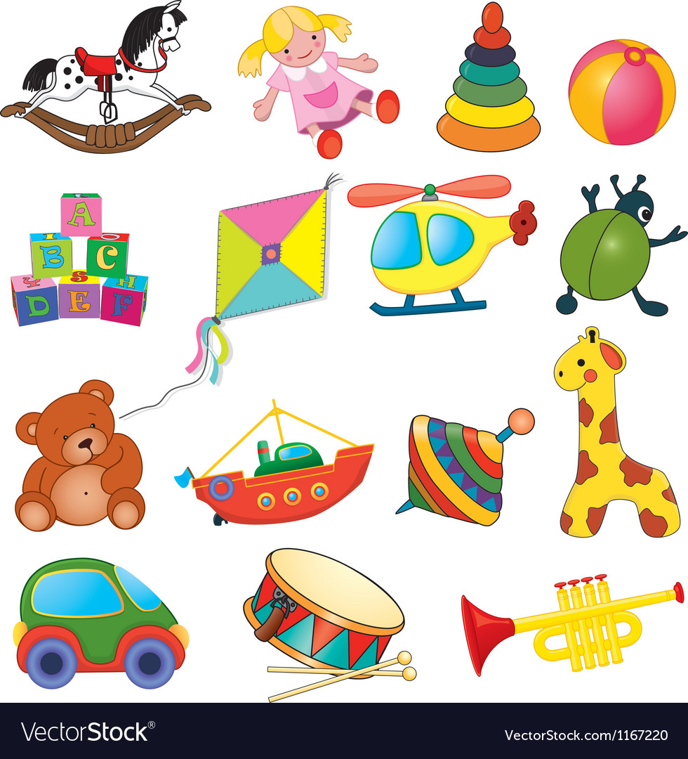 Baby toys vector image
