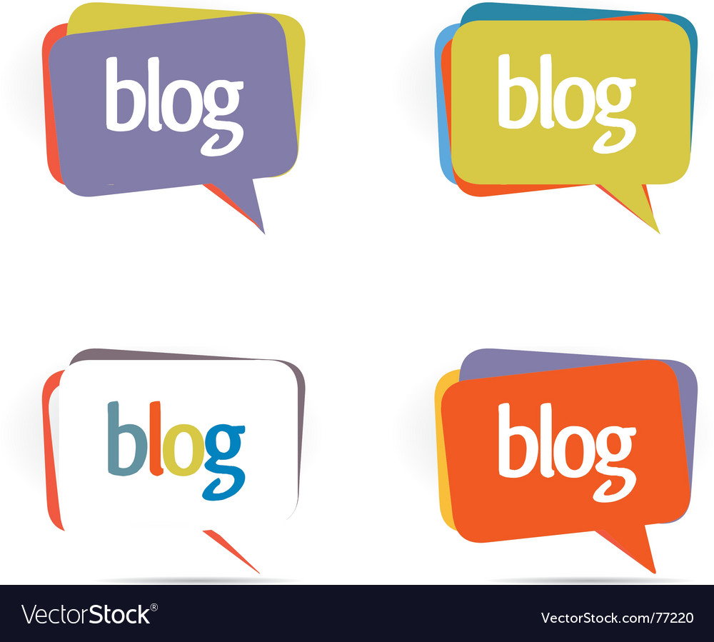 Blogs elements vector image
