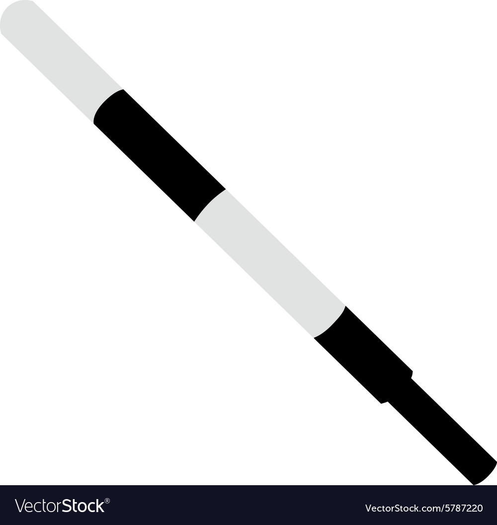 Police stick vector image