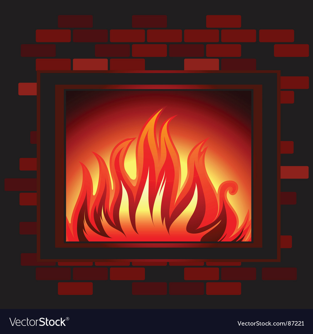 Fireplace vector image