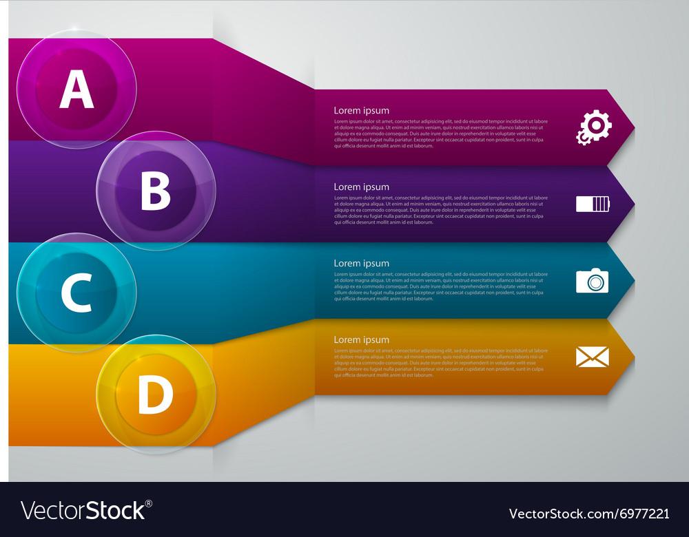 Infographics band arrow vector image