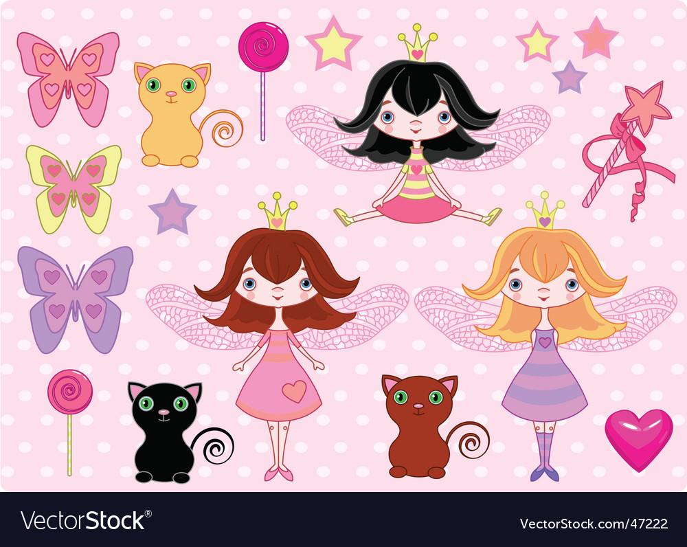 Fairy elements vector image
