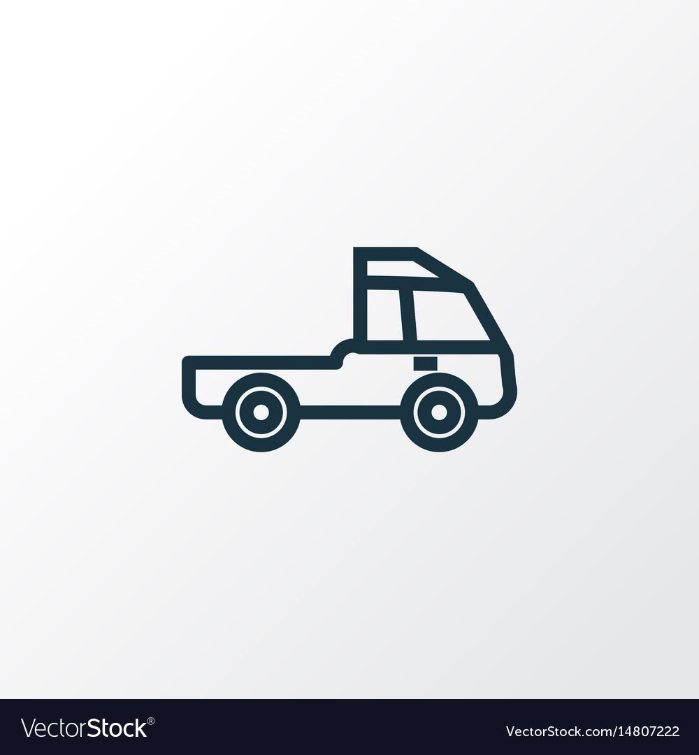 Prime-mover outline symbol premium quality vector image
