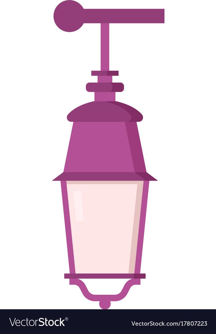 Street lantern icon vector image