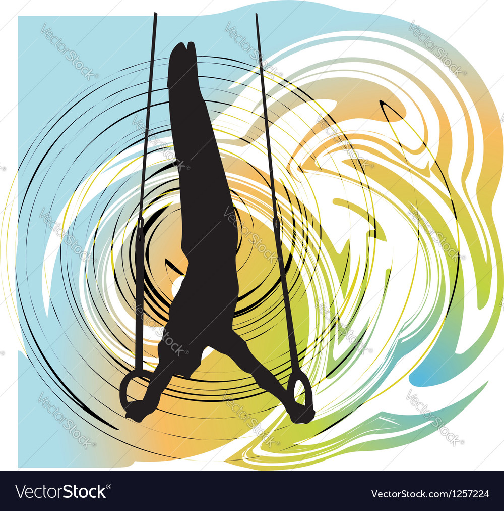 Athlete vector image
