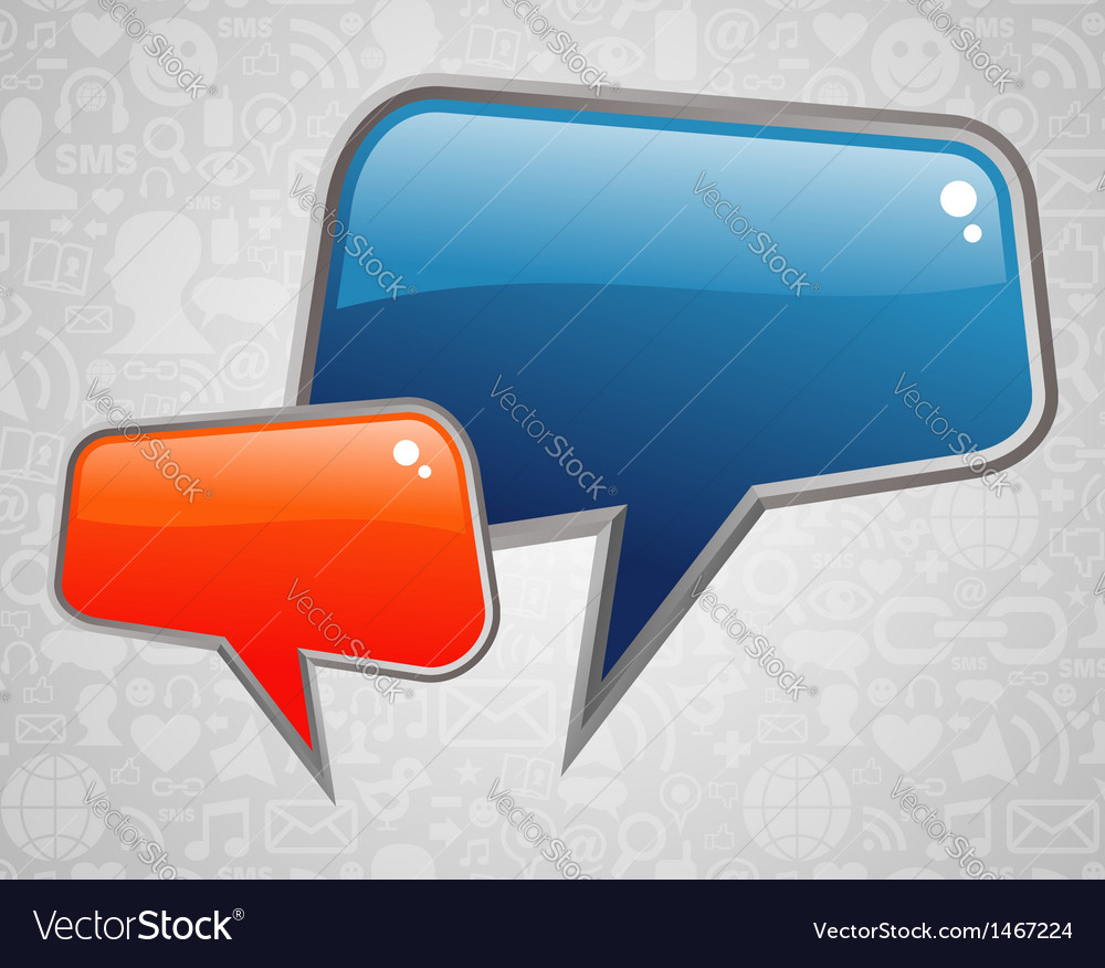 Contemporary social media bubbles vector image