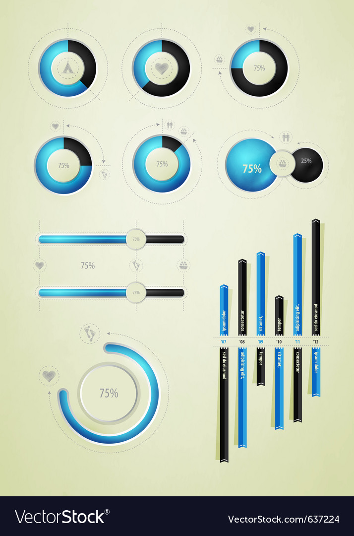 Infographic icons Royalty Free Vector Image - VectorStock