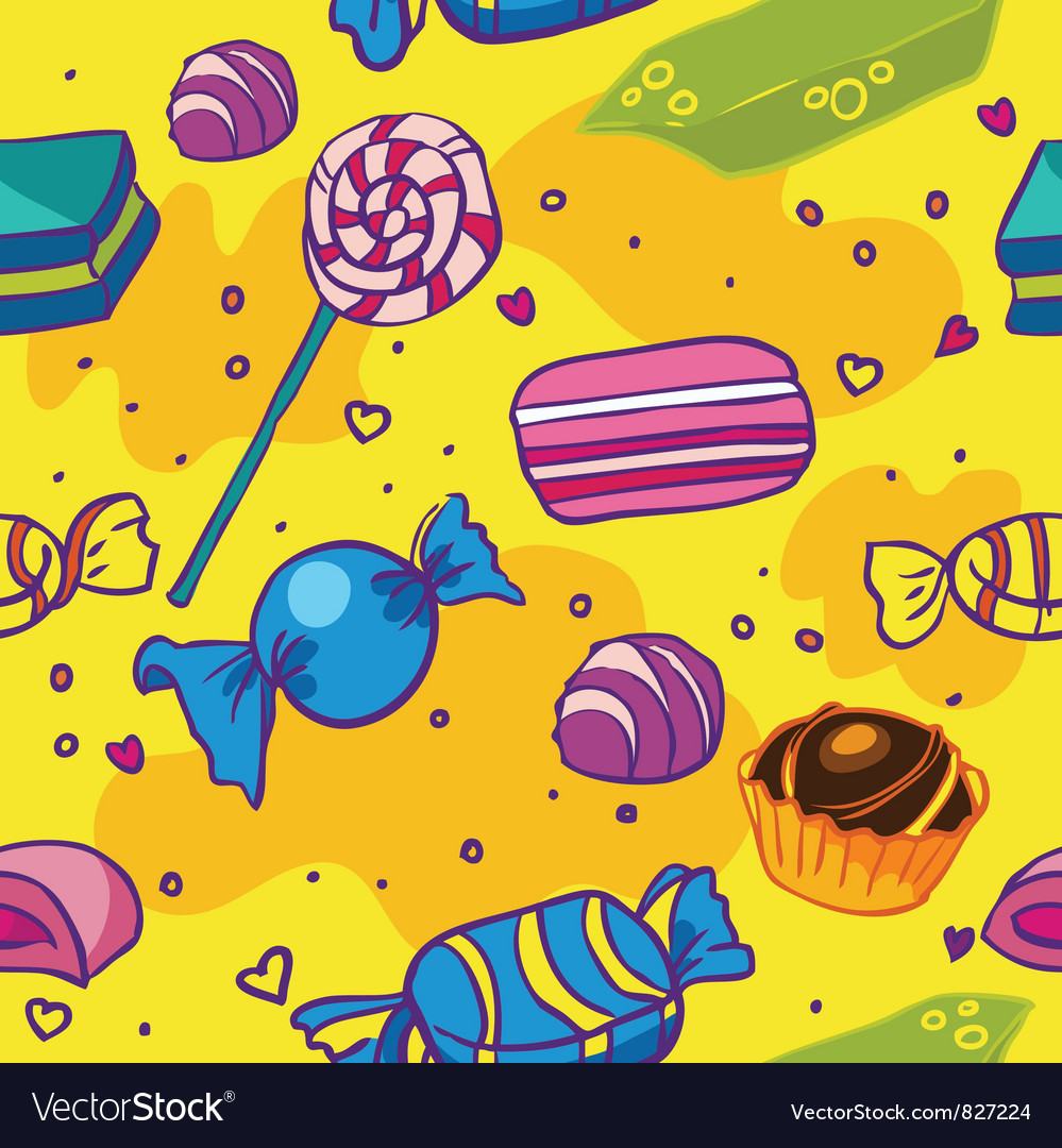 Seamless texture of candy vector image