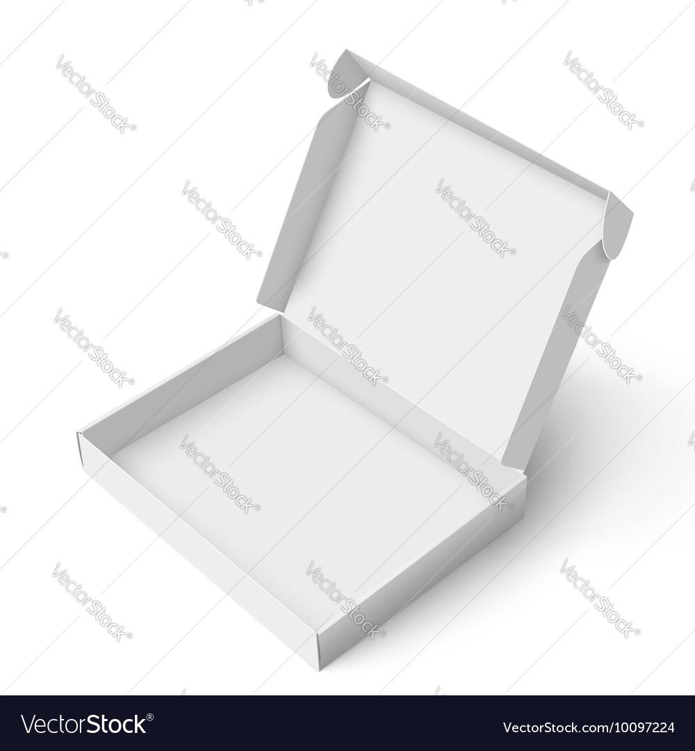 Slim cardboard box template vector image