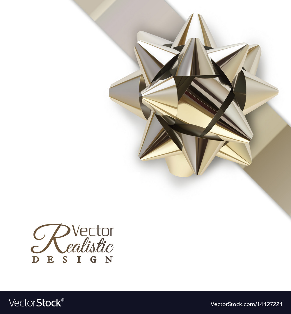 The silver bow vector image