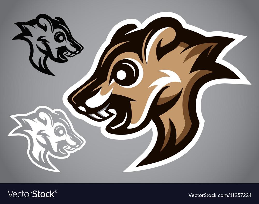 Wild Squirrel head gray logo 2901 vector image