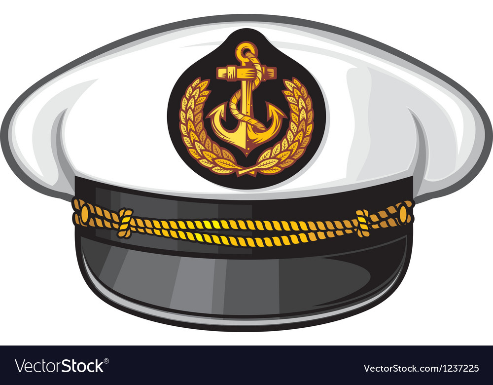 Captain cap vector image