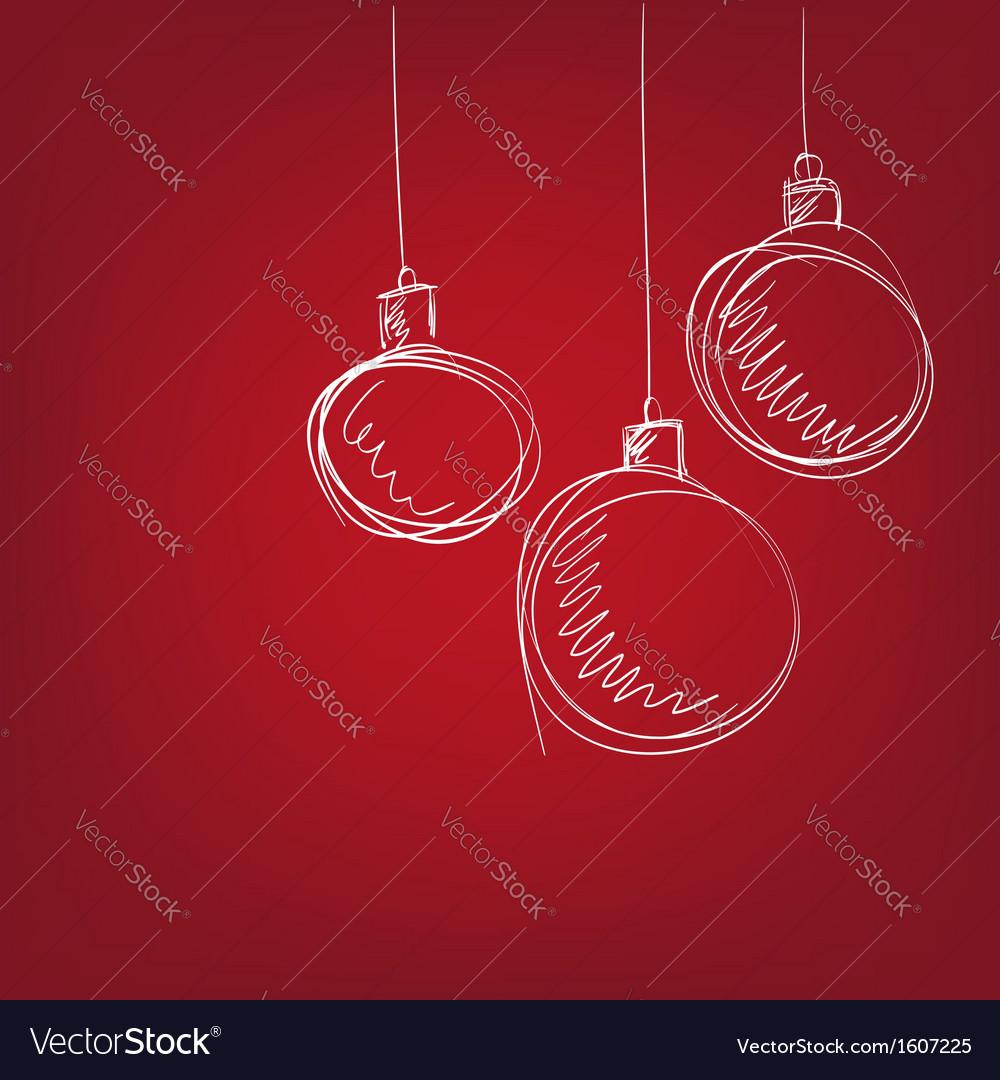 Christmas balls - hand drawn vector image
